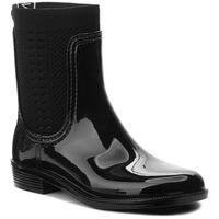 Kalosze - tommy knit rain boot fw0fw02940 black 990, Tommy hilfiger, 36-42