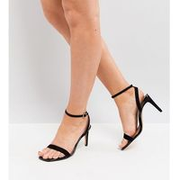 Asos half time wide fit barely there heeled sandals - black
