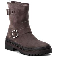 Tommy hilfiger Botki - basic biker boot sue fw0fw03308 steel grey 039