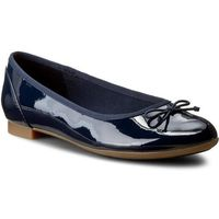 Baleriny CLARKS - Couture Bloom 261185194 Navy Patent