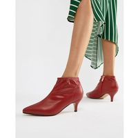 Truffle collection kitten heel ankle boots - red