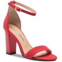 Sandały - 2704 czerwony zamsz, Roberto, 36-39