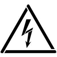 Szablon do malowania znak ostrzeżenie przed napięciem elektrycznym gw012 - 17x20 cm marki Szabloneria
