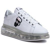 Sneakersy - kl62630 white lthr w/silver marki Karl lagerfeld