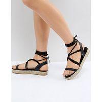 Pieces espadrille sandal - black