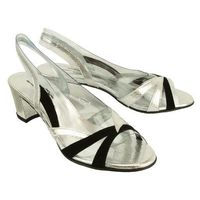 t2111 srebrny, sandały damskie - srebrny marki Brenda zaro