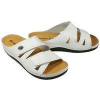lf-07 biały, klapki zdrowotne damskie - biały marki Inblu