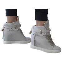 Botki sneakersy na koturnie szare kłódka, Vices