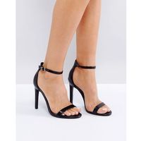 avril black barely there heeled sandals - black, Public desire
