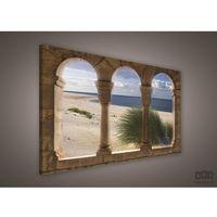 Obraz widok z tarasu na piaszczystą plażę pp263o1 marki Consalnet