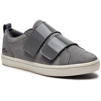 Sneakersy - straightset strap3181 caw 7-36caw00462m1 dk gry/off wht, Lacoste