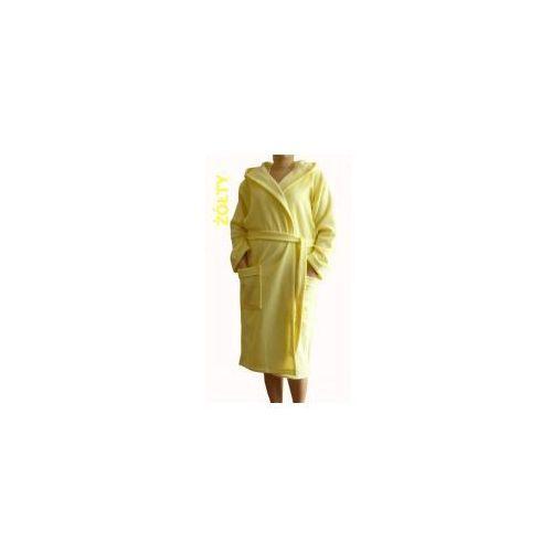Szlafrok Termofrota - Żółty z kapturem, kolor żółty