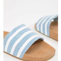 originals cork adilette slider sandals in blue - blue, Adidas
