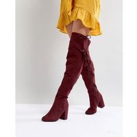 New look tassel over the knee boot - red