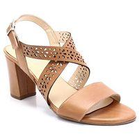 BRENDA ZARO T2564 BRĄZOWE - Hiszpańskie sandały