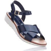 Sandały bonprix ciemnoniebieski, kolor niebieski