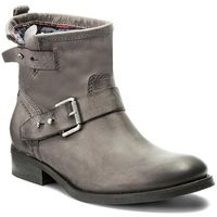 Botki TOMMY HILFIGER - DENIM Avive 21A FW0FW01340 Steel Grey 039