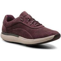 Sneakersy - un cruise lace 261379794 aubergine marki Clarks