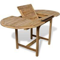 vidaXL Stół jadalniany ogrodowy z drewna tekowego rozkładany (110-160)x80x75 cm