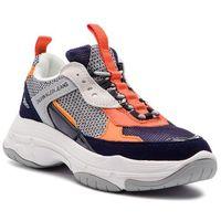 Calvin klein Sneakersy jeans - maya r7798 navy/light grey/oran