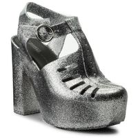 Melissa Sandały - aranha 79 16 heel ad 32242 silver glitter 50711