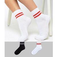 2 pack stripe ankle socks - multi marki Asos design