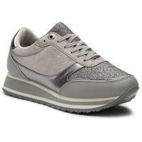 Sneakersy TOMMY HILFIGER - Metallic Retro Runner FW0FW03337 Diamond Grey 001, kolor szary