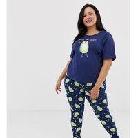Asos curve Asos design curve lets avo disco tee & legging pyjama set - multi