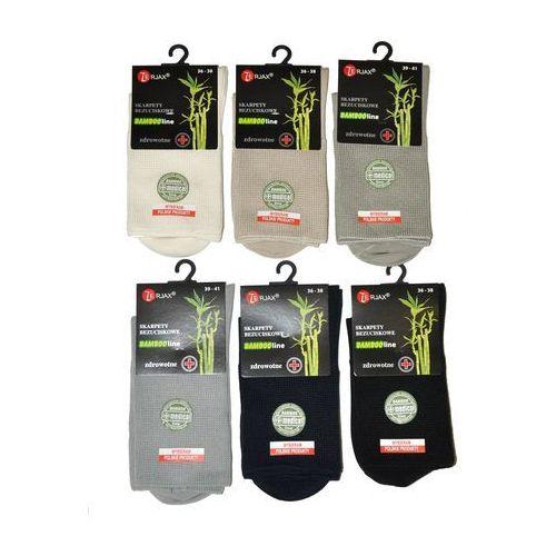 Skarpety Terjax Bamboo line bezuciskowe damskie art.015 ROZMIAR: 39-41, KOLOR: beżowy, Terjax, kolor beżowy