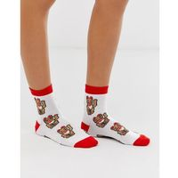 waving cat ankle socks - white marki Asos design