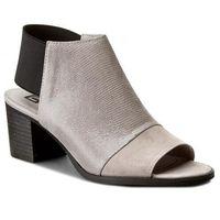 Sandały NESSI - 80706 Szary Lizaro/Szary 19, kolor szary