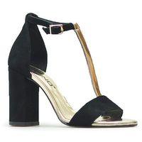 Sandały Karino 2799/003-P Czarne zamsz