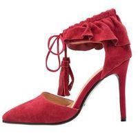 Lavish Alice RUFFLE POINTED STILETTO Szpilki red, kolor czerwony