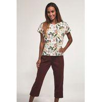 Bawełniana piżama damska Cornette 372/171 Laura ecru, kolor beżowy