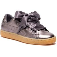 Sneakersy - basket heart luxe wn's 366730 01 quiet shade/quiet shade, Puma, 36-40.5
