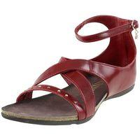 Sandały Carinii ST4571 - Czerwone, kolor czerwony