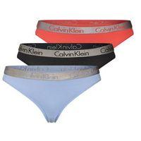 underwear stringi jasnoniebieski / pomarańczowo-czerwony / czarny, Calvin klein