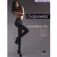 Gabriella Rajstopy microfibre 3d 119 2-4 100 den 2-s, czarny/nero, gabriella