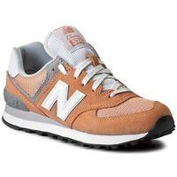 Sneakersy NEW BALANCE - WL574CB Pomarańczowy