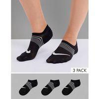 Nike 3 pack lightweight training socks in black - black, Nike training