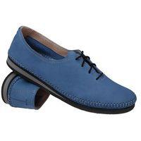 Mokasyny sznurowane buty SIMEN 6870 Niebieskie - Niebieski (5902627313660)