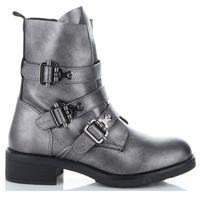Uniwersalne botki damskie firmowe i modne buty damskie marki szare (kolory), Lady glory