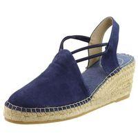 Sandały letnie Toni Pons Granatowy Koturn Inny Materiał, kolor niebieski