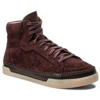 Sneakersy CLARKS - Hidi Haze 261267664 Burgundy Suede, kolor czerwony