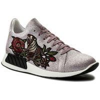 Sneakersy - 1006 glitter fine pink/mezza tigre marki Hego's milano