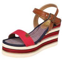 Refresh Sandały z rzemykami beżowy / niebieski / czerwony