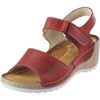 Sandały 0474 - czerwone marki Wasak