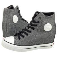 Sneakersy Big Star Szare Brokatowe W274675 (BI53-c), kolor szary