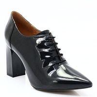 CAPRICE 9-23301-29 CZARNY - Eleganckie sznurowane botki - Czarny, kolor czarny