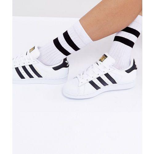Asos design calf length stripe socks - white